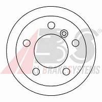 ABS - Тормозной диск задний Mercedes Sprinter (Мерседес Спринтер) 411 Дизель 2000 - 2006 (16454)