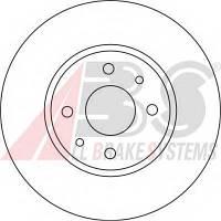 ABS - Тормозной диск передний Fiat Linea (Фиат Линеа) 1.4 бензин 2007 -  (16422)