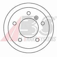 ABS - Тормозной диск задний Mercedes Sprinter (Мерседес Спринтер) 214 Бензин/природный газ (CNG) 2000 - 2006 (16452)