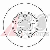 ABS - Тормозной диск передний Fiat Scudo (Фиат Скудо) 1.6 бензин 1996 - 2006 (16325)