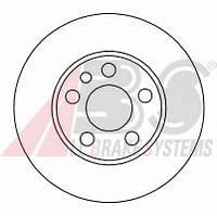 ABS - Тормозной диск передний Fiat Scudo (Фиат Скудо) 2.0 бензин 2000 - 2006 (16325)