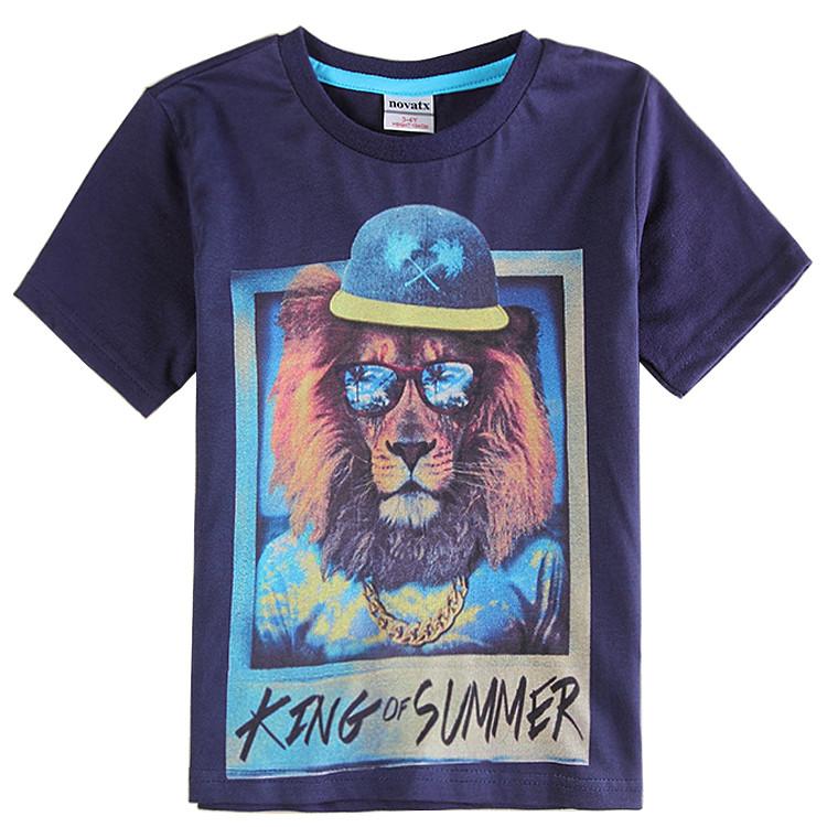 """Детская летняя футболка для мальчика """"Король лета"""""""