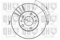 Quinton Hazell - Тормозной диск передний FIAT DUCATO 160 Дизель 2006 -  (bdc4361)