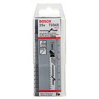 Пилки лобзиковые Bosch 25 шт T 234 X, HCS