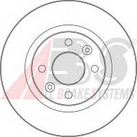ABS - Тормозной диск передний DACIA SANDERO 1.2 Бензин/автогаз (LPG) 2008 -  (16150)