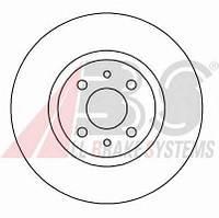 ABS - Тормозной диск передний LANCIA DELTA 1.4 Бензин/автогаз (LPG) 2011 -  (16061)