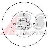 ABS - Тормозной диск задний Seat Toledo (Сеат Толедо) 2.0 бензин 1991 - 1999 (15962)