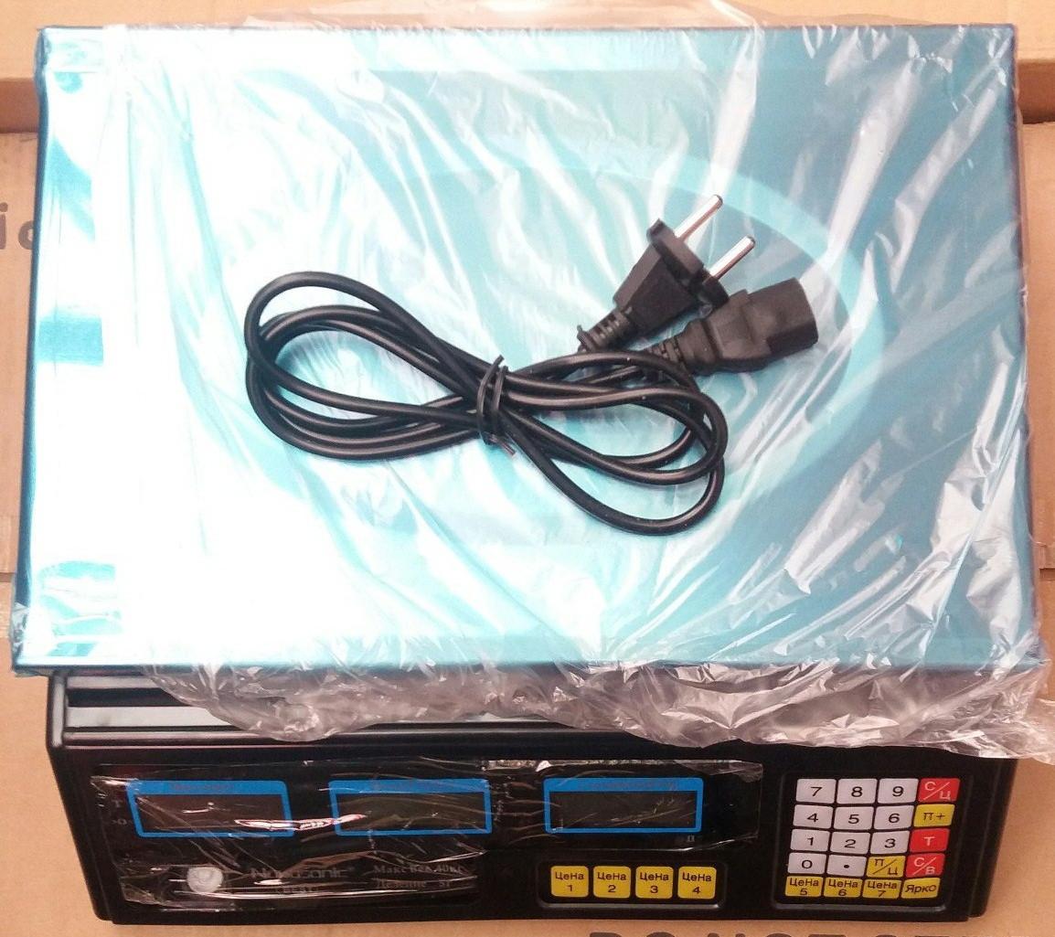 Весы электронные торговые Nokasonic 40 кг (металл)