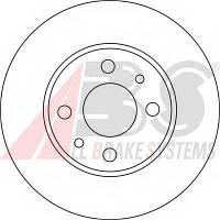 ABS - Диск тормозной Fiat Panda (Фиат Панда) 1.4 Бензин/природный газ (CNG) 2009 -  (15857)