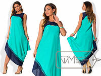 Шикарное летнее платье, ткань лен. В наличии 4 цвета