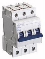 Автоматический выключатель автомат 63 A ампер Германия трехфазный трехполюсный B В характеристика цена купить
