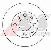 ABS - Тормозной диск передний CHEVROLET AVEO 1.6 бензин 2003 -  (15770)
