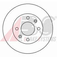 ABS - Тормозной диск передний Nissan Kubistar (Ниссан Кубистар) 1.5 Дизель 2003 - 2010 (15117)