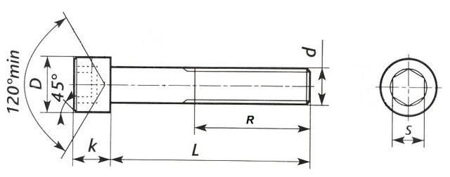 Винт с внутренним шестигранником