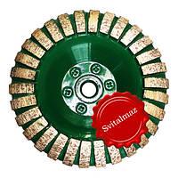 Фреза алмазная торцевая выпуклой формы Ф125 мм. №0 резьба М14 для шлифовки не ровных поверхностей камня.