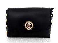Стильная маленькая женская сумочка - клатч. 100% натуральная кожа! Италия Черный