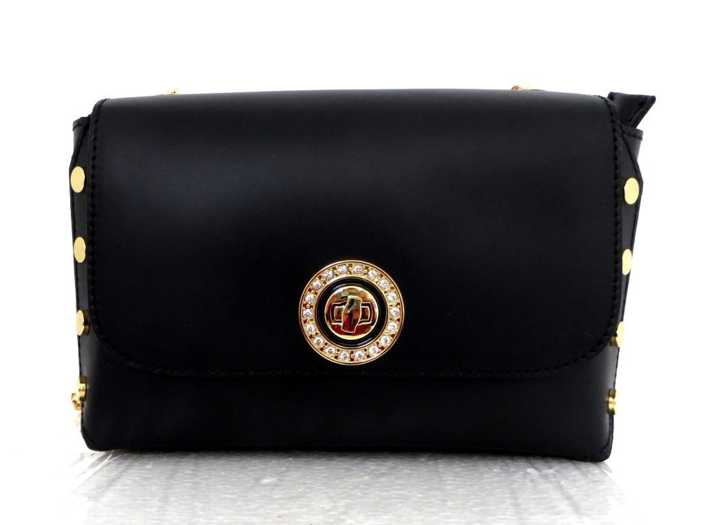 Стильная маленькая женская сумочка - клатч. 100% натуральная кожа! Италия Черный, фото 1