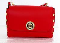 Стильная маленькая женская сумочка - клатч. 100% натуральная кожа! Италия Красный, фото 1
