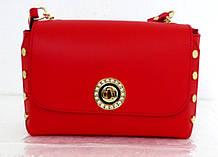Стильная маленькая женская сумочка - клатч. 100% натуральная кожа! Италия Красный