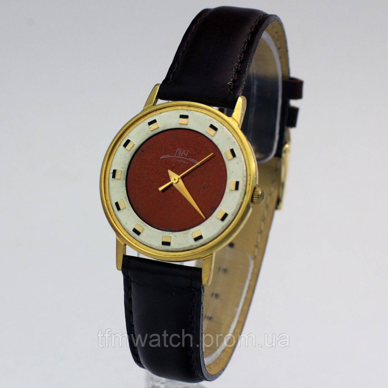 Часы Луч мужские позолоченные