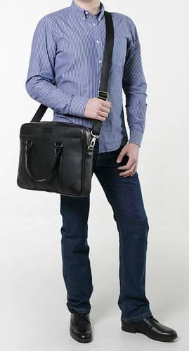 Кожаная мужская сумка Тоут ISSA HARA B14 (11-01) черный