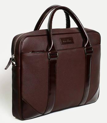 Деловая кожаная мужская сумка Тоут ISSA HARA B14 (12-02) шоколадный