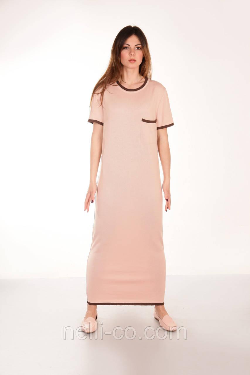 091901c7609 Длинное платье в стиле спорт шик