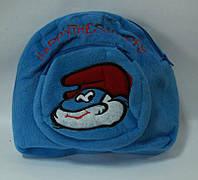 """Рюкзак-игрушка W02-3265 """"Smurfs"""" 25*25 см, смурфик, мягкий рюкзак"""