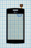 Тачскрин сенсорное стекло для LG GT400 blue