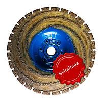Фреза алмазная торцевая Прорезной - зачистной Ф130 мм. резьба М14 для обработки мрамора.