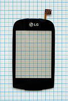 Тачскрин сенсорное стекло для LG GT500/505 black