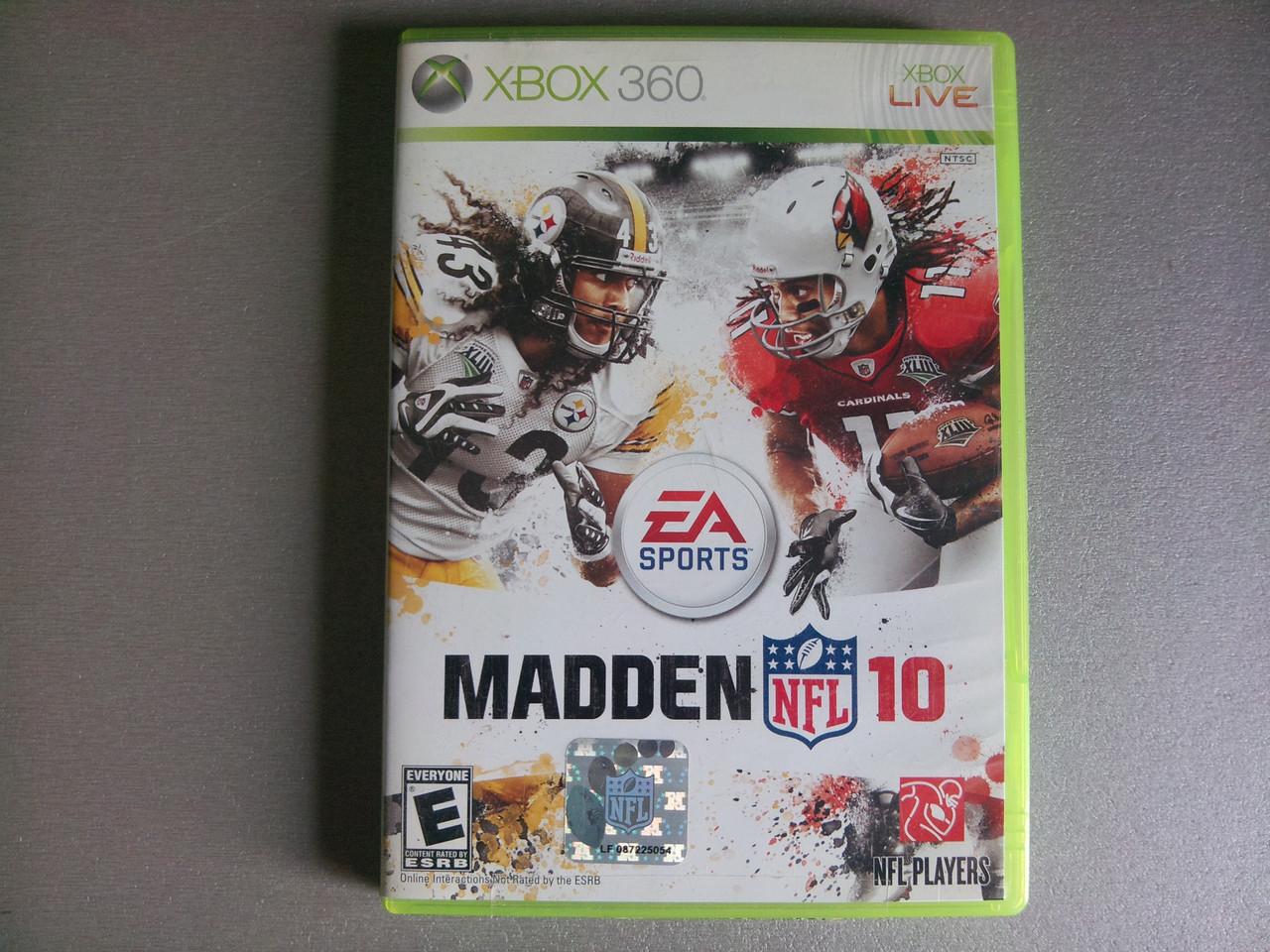 Игра xbox 360 NFL Madden 10 регион NTSC
