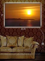 Светящаяся картина (ночник) 29х45см Солнце в дымке
