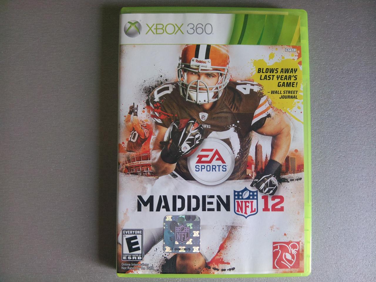 Игра xbox 360 NFL Madden 12 регион NTSC