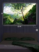 Светящаяся картина (ночник) 29х45см Дерево в горах