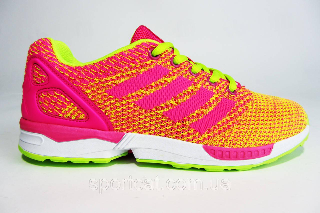 Женские кроссовки BaaS Flux, текстиль, розовые с желтым
