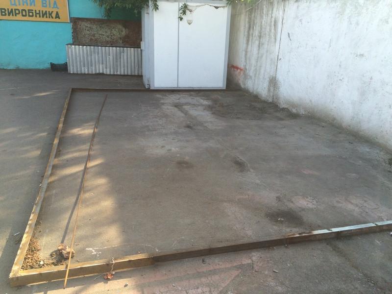 Открытая бетонная площадка