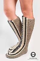Шерстяные носки - тапочки SS-17, фото 1