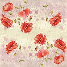 Серветка Маки на рожевому тлі 4337
