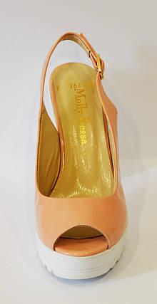Босоножки розовые на каблуке Molly Bessa 173-262, фото 2
