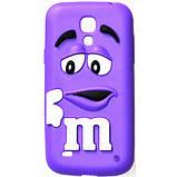 Чехол M&M's для Samsung Galaxy S4 Mini I9190 голубой, фото 6