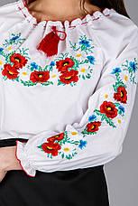 Женская вышиванка с цветочным орнаментом , фото 2