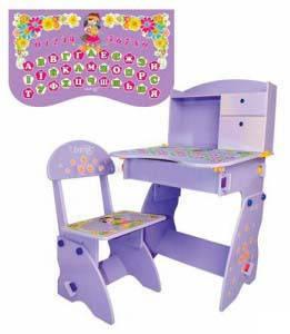 Детская парта со стулом Bambi W 070, фото 2