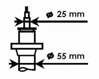 KYB - Амортизатор передний (D 55) Volkswagen Golf (Фольксваген Гольф) 1.6 Бензин/автогаз (LPG) 2009 - 2012 (335808)