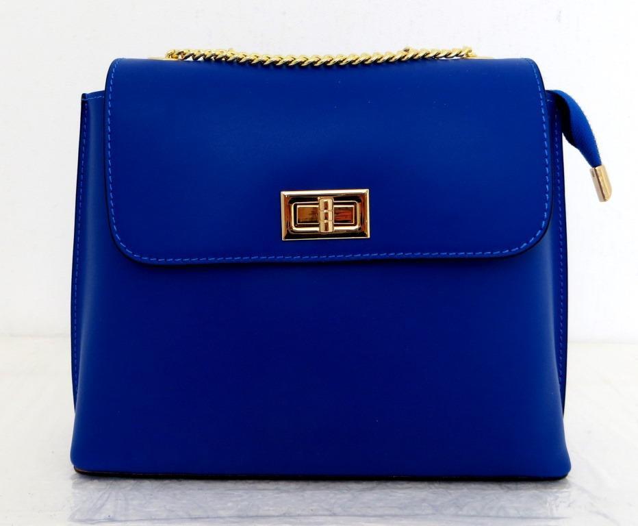 Брендовая женская сумочка  100% натуральная кожа! Италия Синий