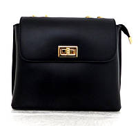 Брендовая женская сумочка  100% натуральная кожа! Италия Черный