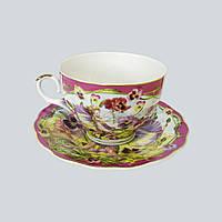 Чайный набор чашка + блюдце