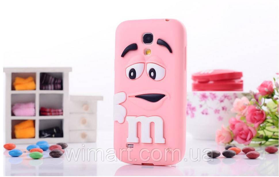 Чехол M&M's для Samsung Galaxy S4 Mini I9190 розовый