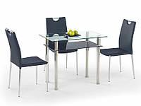 Стол обеденный стеклянный LESTER 90 черный Halmar