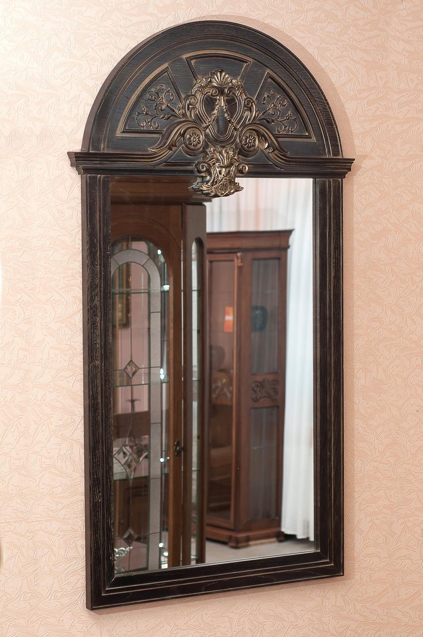 Код М-010.2. Зеркало в деревянной раме с резьбой